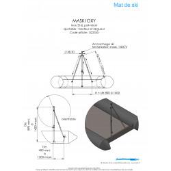 Schéma et dimensions MASKI OXY+ MATC