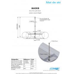 Schéma et dimensions MASKI8 1540m