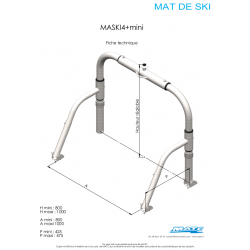 Schéma et dimensions MASKI4+ mini MATC