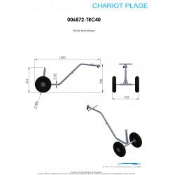schéma et dimensions du chariot TRC40