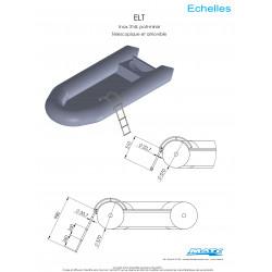 Schéma et dimensions Echelle latérale télescopique MATC