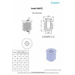 Schéma et dimensions inserts MATC